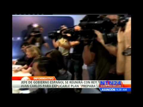 Presidente del Gobierno español se reúne con el Rey Juan Carlos para explicarle plan