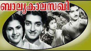 Malayalam Full Movie | ബാല്യകാലസഖി | Prem Nazir & Sheela | Black And White Movie