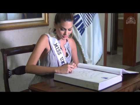 Llegada de Gabriela Isler Miss Universo 2013 a Venezuela