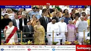72-வது சுதந்திரதினத்தையொட்டி டெல்லி செங்கோட்டையில் பிரதமர் மோடி கொடியேற்றம்