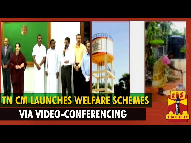 TN CM Jayalalithaa Launches Public Welfare schemes Via Video-Conferencing - Thanthi TV