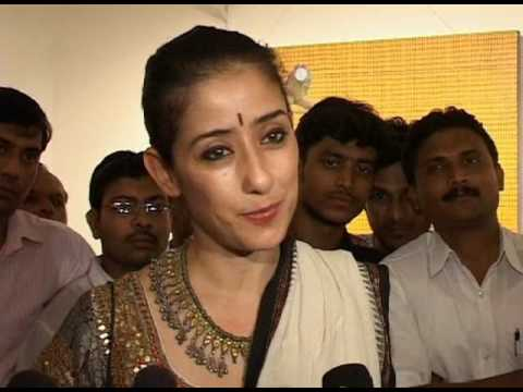Manisha Koirala at Ashwin Kadam's Art exhibition