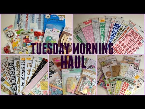 Collective Scrapbook Haul| Tuesday Morning