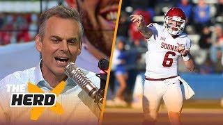 Colin Cowherd reacts to Baker Mayfield's antics vs Kansas, Rosen's game vs Darnold | THE HERD