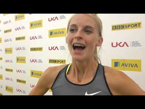 Aviva Birmingham Grand Prix   Hannah England Womens 1500m