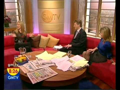 Kate Garraway in sheer grey tights 1