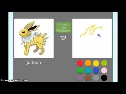 Покемон рисовать за 45 секунд