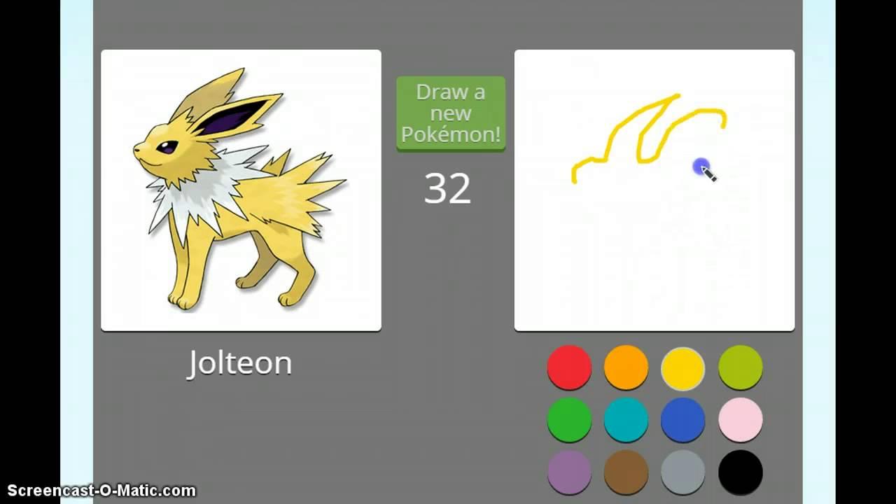 Нарисуй свой покемона за 45 секунд