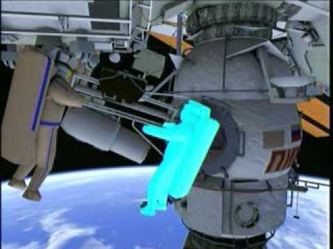 Russian Spacewalk at Space Station