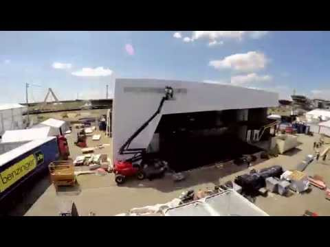Porsche 24 Hours of Le Mans Hospitality Area Time Lapse