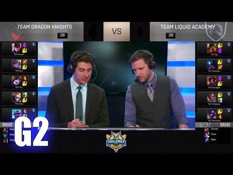 Team Dragon Knights vs Team Liquid Academy | Game 2 Week 3 S6 NACS Spring 2016 | TDK vs TLA G2 W3