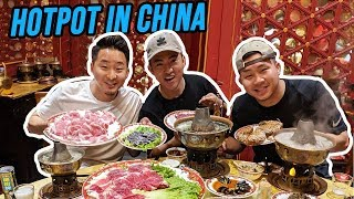 ANCIENT TRADITIONAL HOT POT in China! Real Beijing Style!