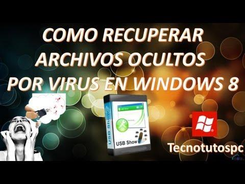 Como recuperar archivos ocultos por virus USB en windows 8
