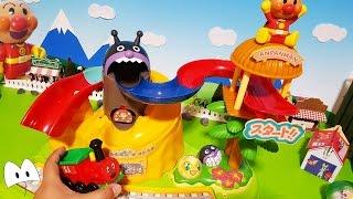 アンパンマン アニメ&おもちゃ コロコロふしぎないっぱい大冒険の島で遊んだよ!メロンパンナちゃんバイキンマンうまく行けるかな?Miniature Toys