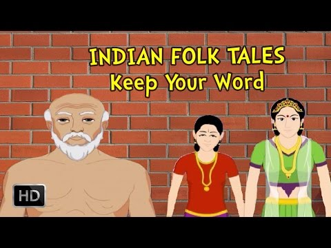 Indian Folk Tales - Keep Your Word - Short Stories For Children - Animated cartoon Stories For Kids video