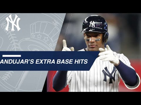 Miguel Andujar's extra base hits in 2018