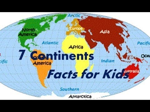 Seven 7 Continents Interesting Facts For Kids Youtube