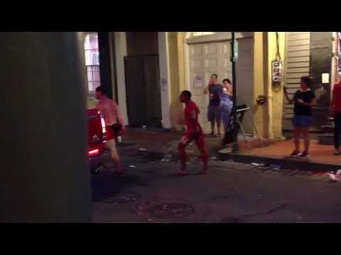 Red Dress Run; Fight Breaks Out With Traffic Tranny & Some Drunk Guy video