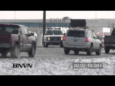3/27/2009 Fargo, ND Interstate 94 Closed Part 02 stock video