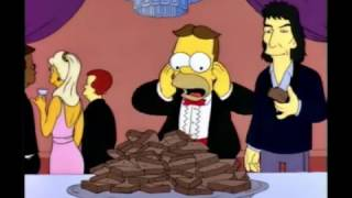 Simpsons: Homer eats Brownies