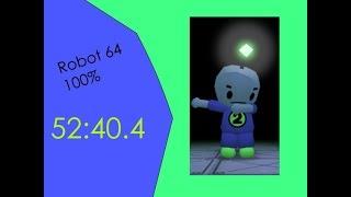 Robot 64 100% [52:10.74] Former World Record 55.35 MB