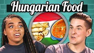 COLLEGE KIDS EAT HUNGARIAN FOOD   College Kids Vs. Food