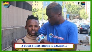 A Four-Sided Figure is Called...? | Street Quiz South Africa | Street Quiz Mzansi | Funny Videos