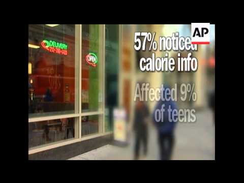 Posting calorie counts of menu items at fast-food restaurants doesn't appear to affect teens and par