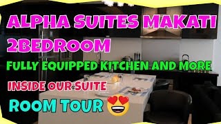ALPHA SUITES MAKATI/2 BEDROOM/INSIDE OUR SUITE