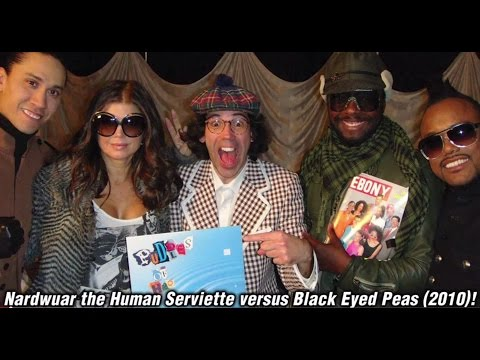 Nardwuar interviews the Black Eyed Peas in Vancouver, BC, Canada!