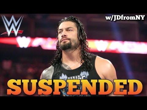 Roman Reigns Suspended From WWE For Wellness Policy Violation