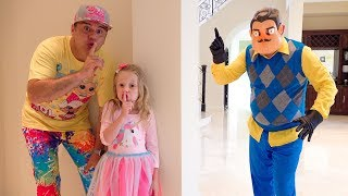 Stacy and Dad try to be friends with Hello Neighbor