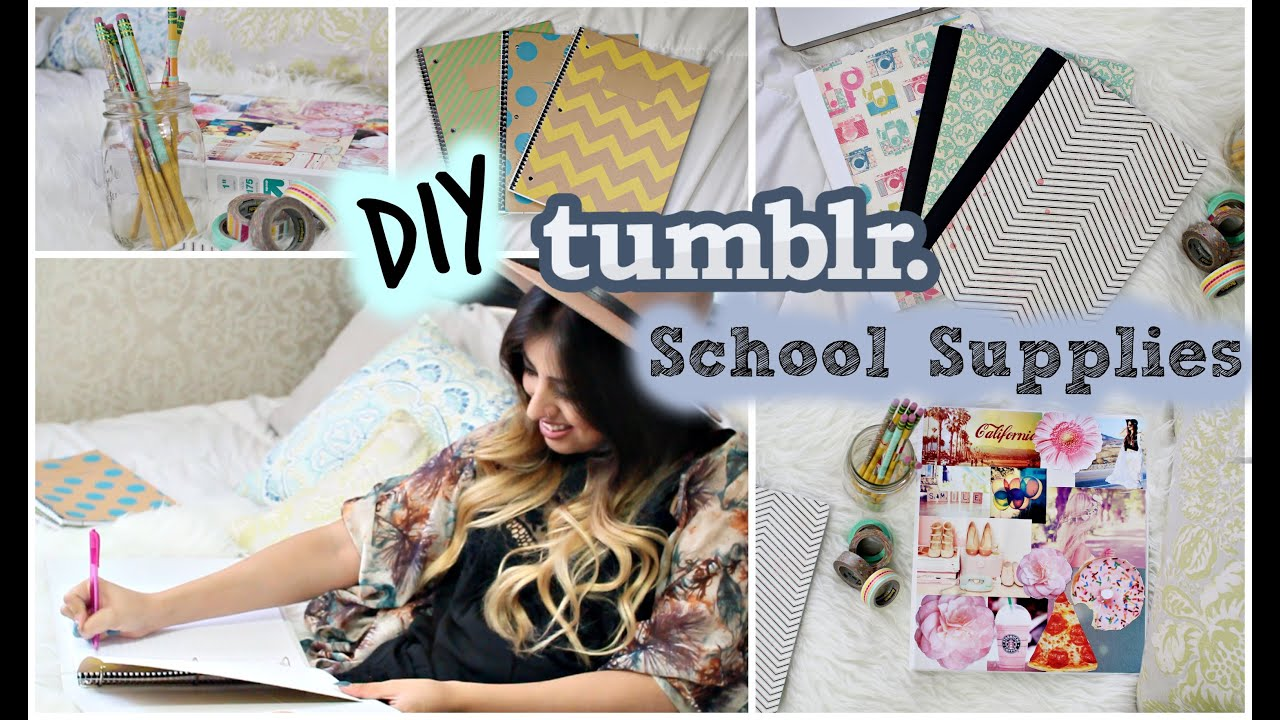 Back to School: DIY Tumblr School Supplies - YouTube