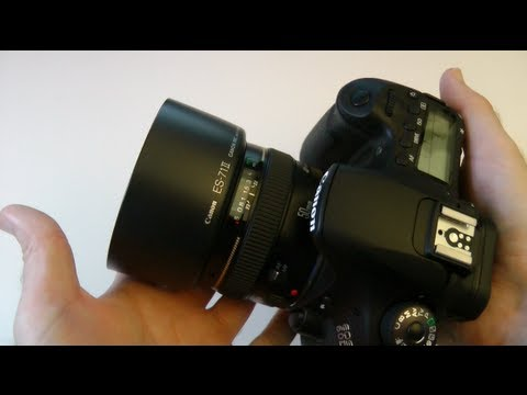 canon ef 50mm f1.4 lens & hood unboxing youtube