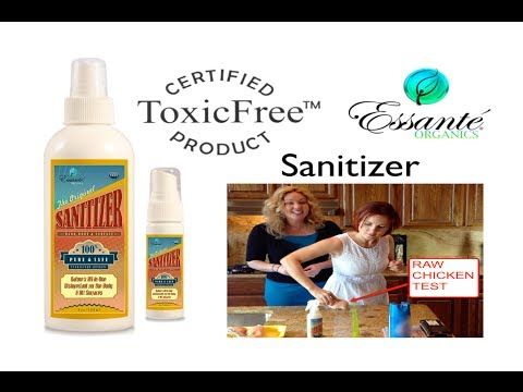 Sanitizer - 100% Toxic-Free Disinfectant For Body & Home Contamination Test, Essante Organics