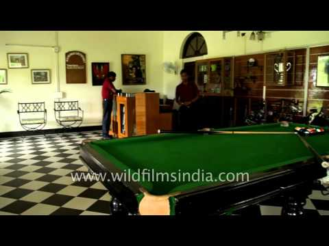 Snooker is a popular sport in India - seen here in Assam