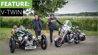 2019 Indian Springfield vs Morgan 3 Wheeler. Road test cruising w/ Tiff Needell
