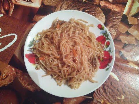 Плов из вермишели (узбекская кухня)