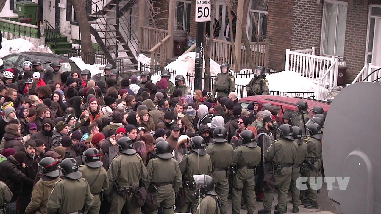 Repression politique  la manifestation contre la brutalit policire 2014