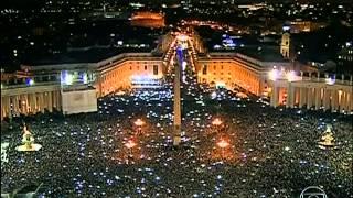 A eleição de Jorge Mario Bergoglio, Papa Francisco, como líder da Igreja Católica (Rede Globo)