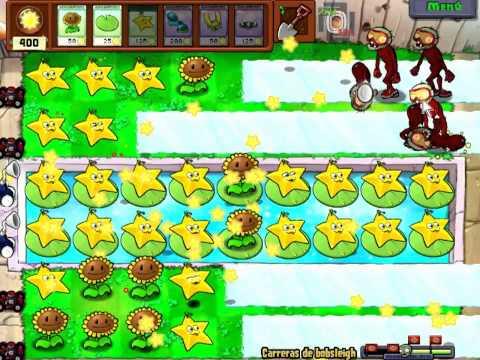 Plantas VS Zombies Carreras de Bobsleigh 3 plantas