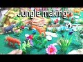✔How To Make Jungle   A Visit To A Zoo   Wildlife Model    Jungle Craft Ideas