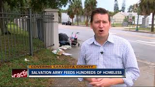 Salvation Army feeds more than a thousand homeless people for Thanksgiving