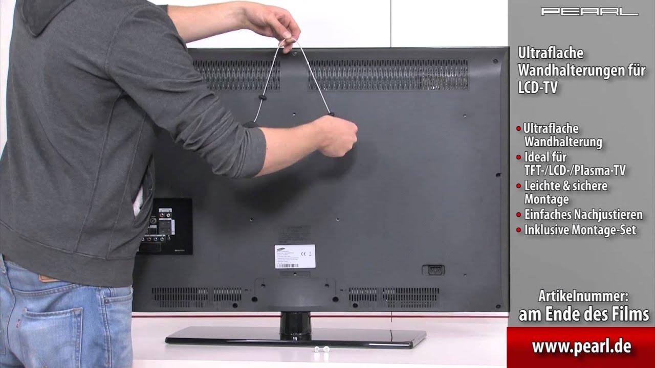 dream audio ultraflache wandhalterung f r lcd tv 23 42 max 35 kg youtube. Black Bedroom Furniture Sets. Home Design Ideas