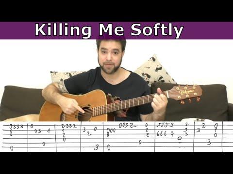Fingerstyle Tutorial: Killing Me Softly - Guitar Lesson W/ TAB
