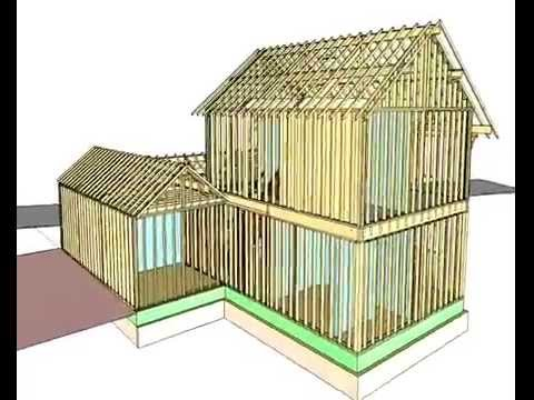 Maison bois structure poteau poutre