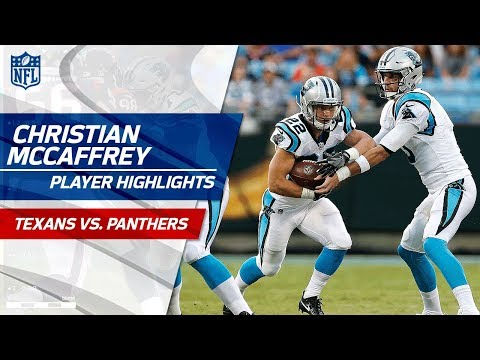 Every Christian Mccaffrey Touch Vs Houston Texans Vs Panthers Preseason