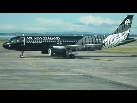 Airbus A320 of Air New New Zealand AKL - CHC  2013  Passenger Perspective