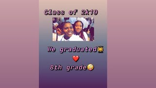 Just graduated! Class of 2018-2019 Bair Middle School kids🥰🌺👩🎓