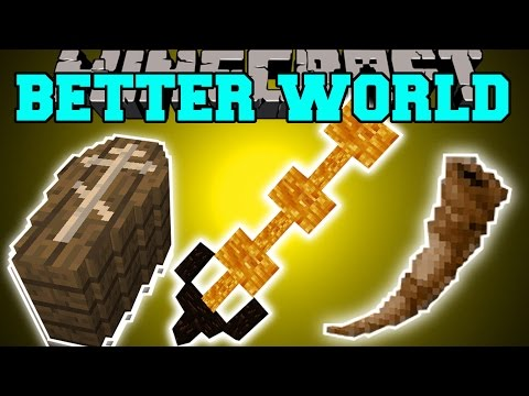 Minecraft: BETTER WORLD MOD (CRAZY CLASES WITH WEAPONS & ABILITIES!) Mod Showcase